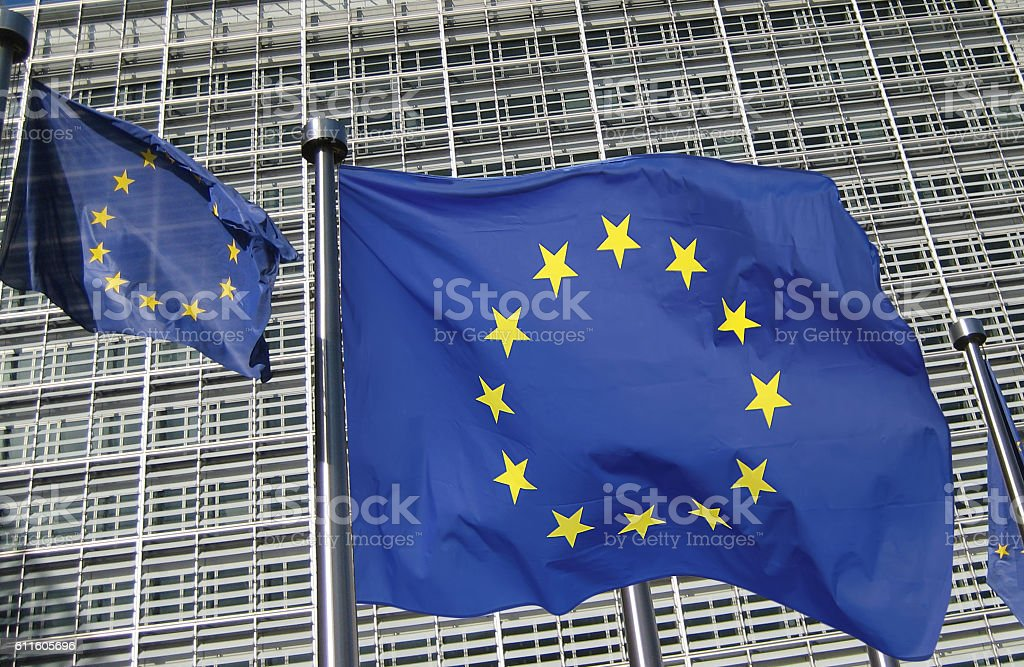 European Commission headquarters in Brussels stock photo