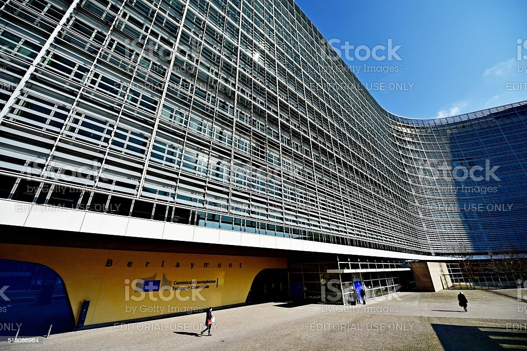 European Commission Headquarters stock photo