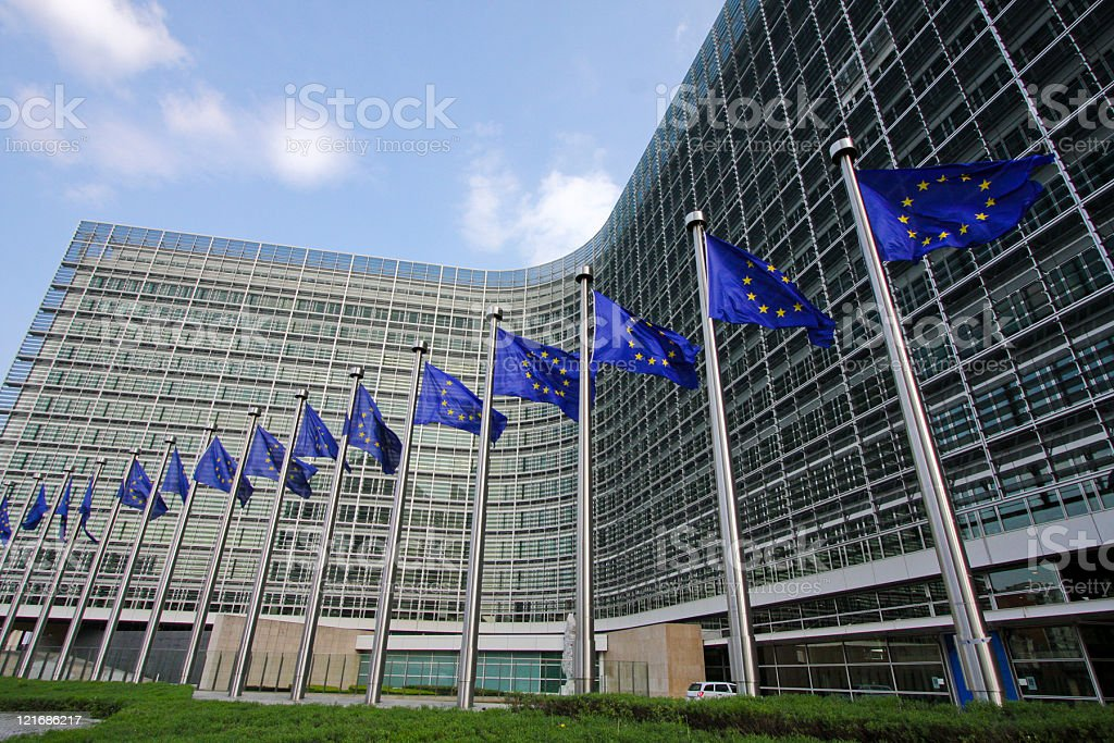 European Commission in Brussels stock photo