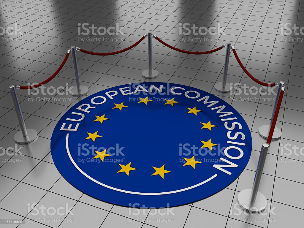 EC - European Commission stock photo