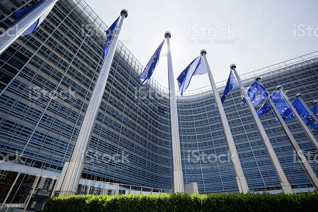 European community buliding stock photo