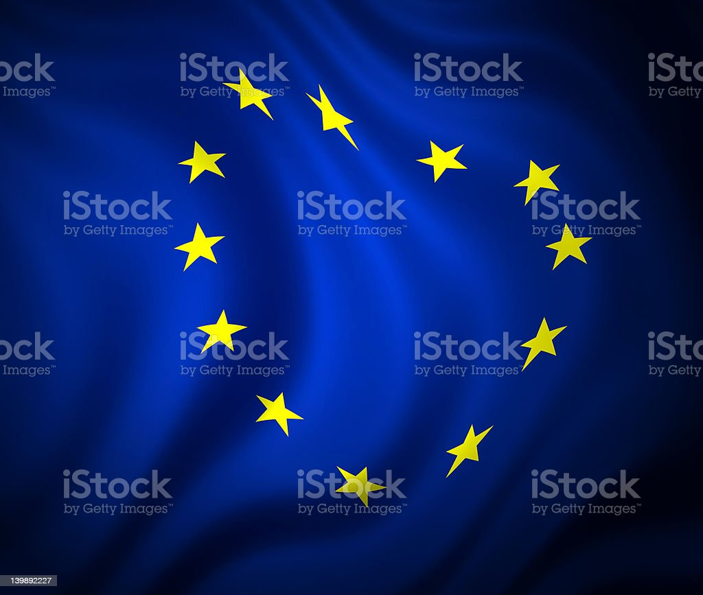 european community flag royalty-free stock photo