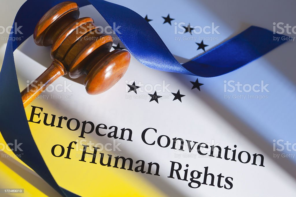 European Convention of Human Rights stock photo