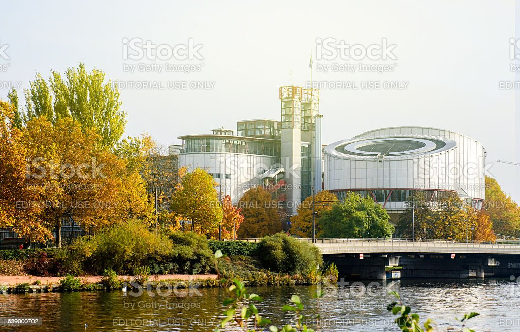 European Court of Human Rights, ecthr, Cour europeenne des droit stock photo
