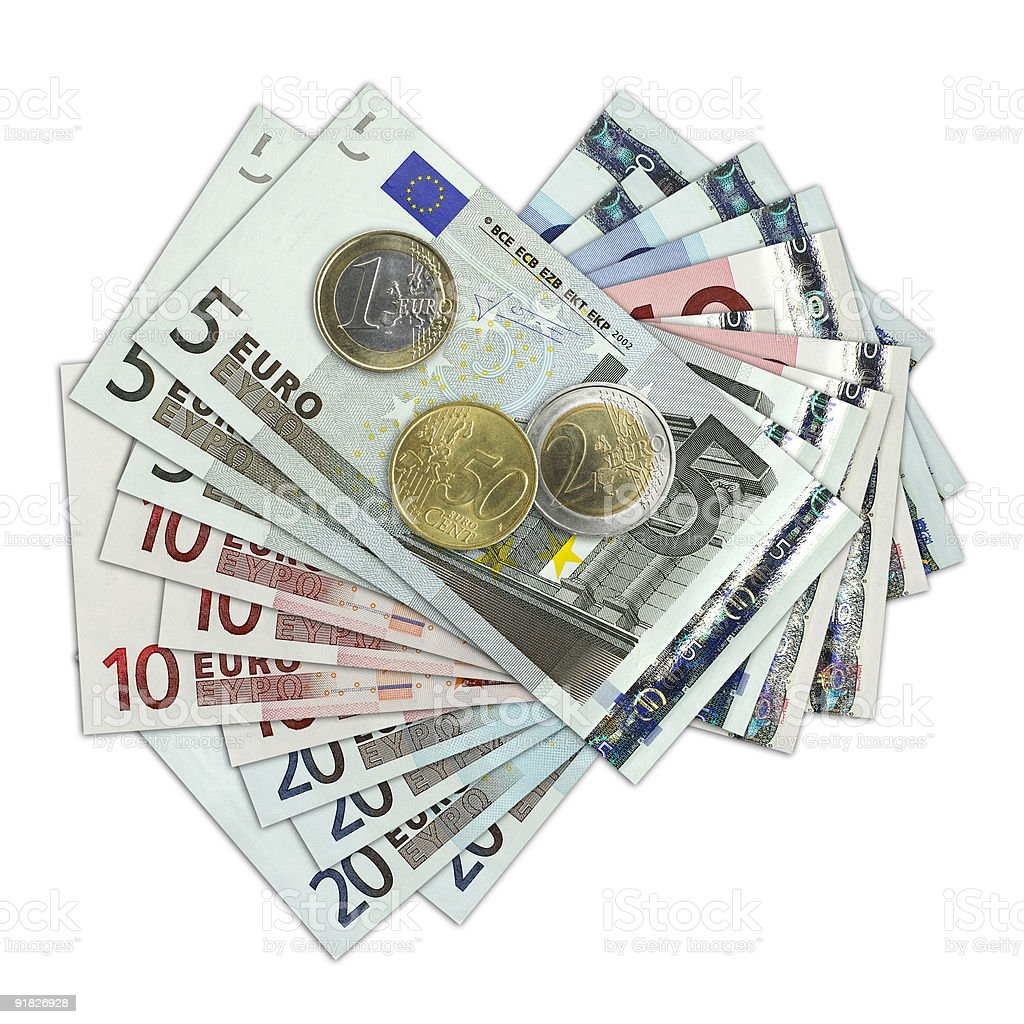 European currency royalty-free stock photo