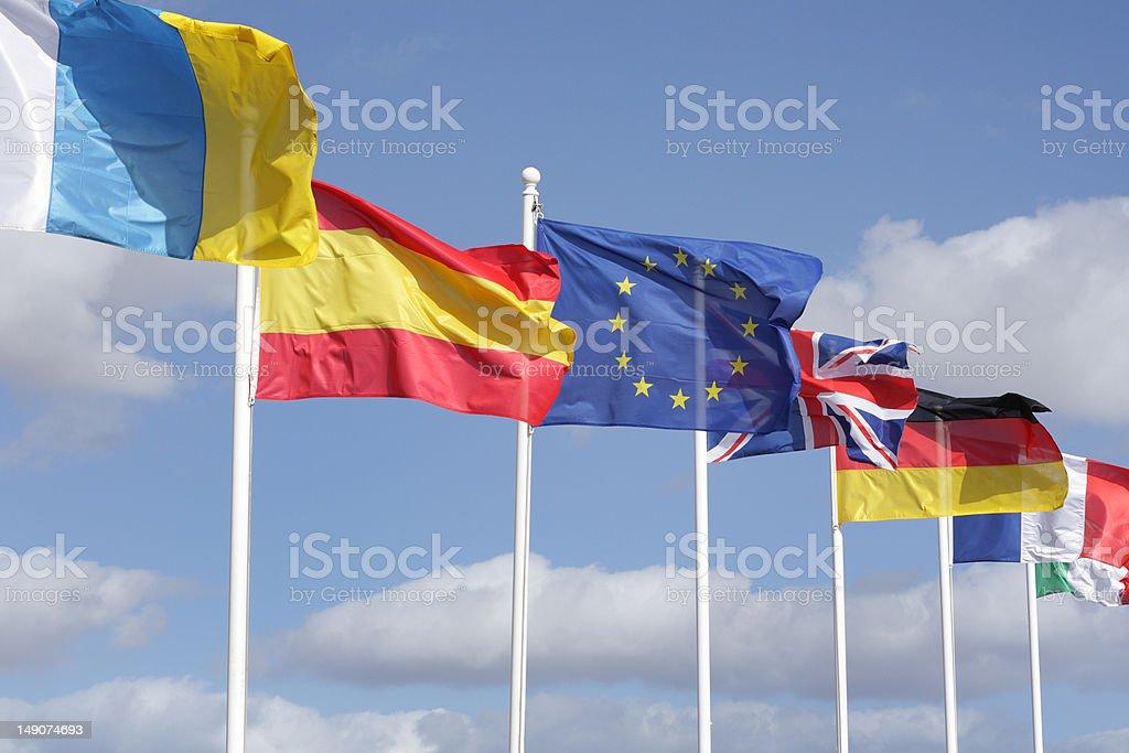 european europe union flag stock photo