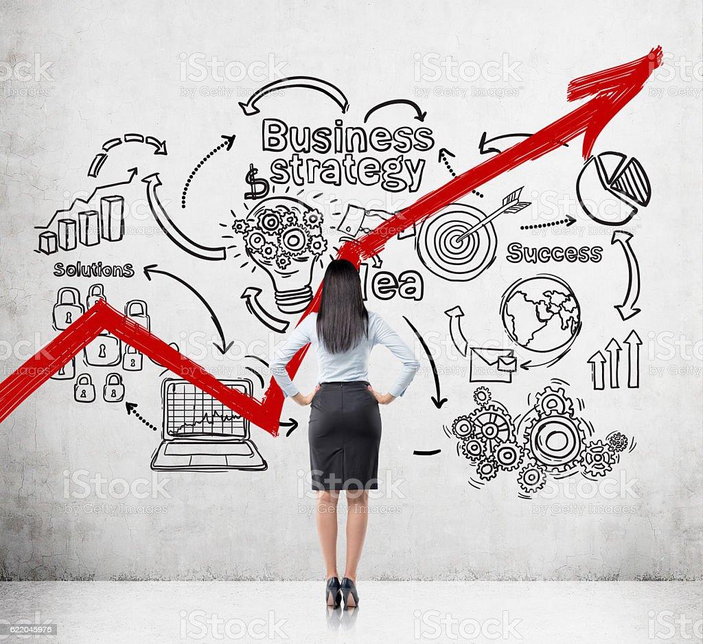 European female startup founder stock photo