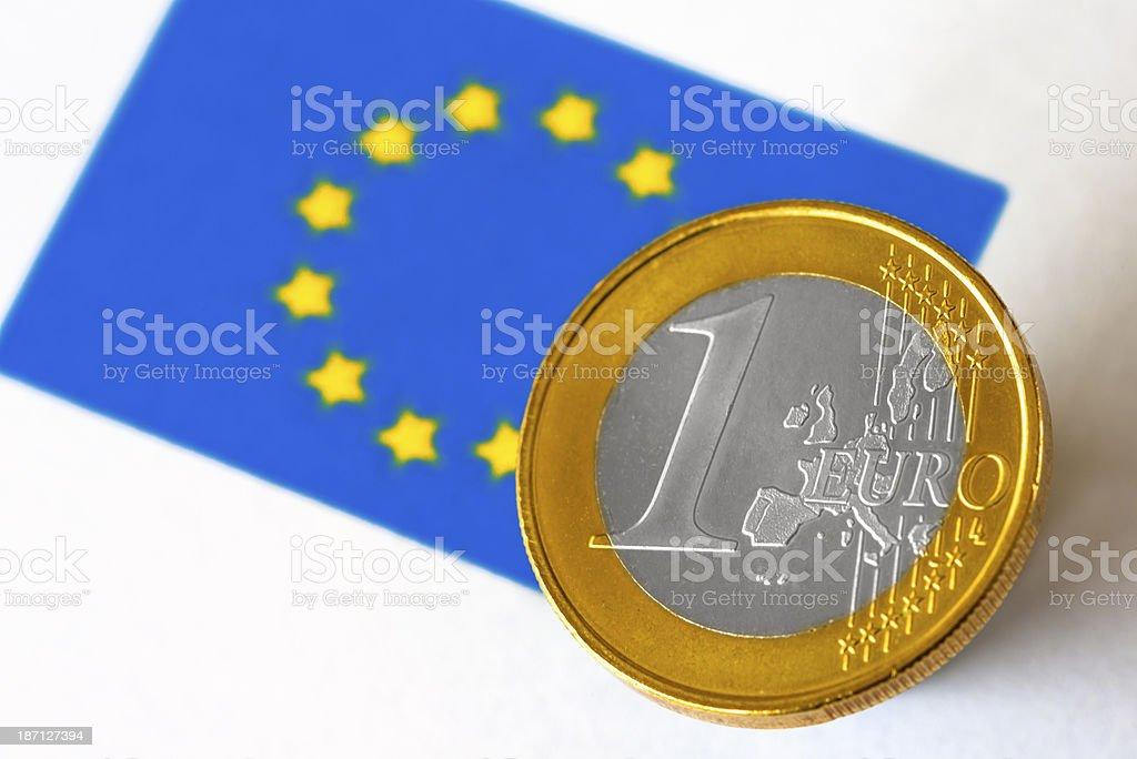European Flag and Euro royalty-free stock photo