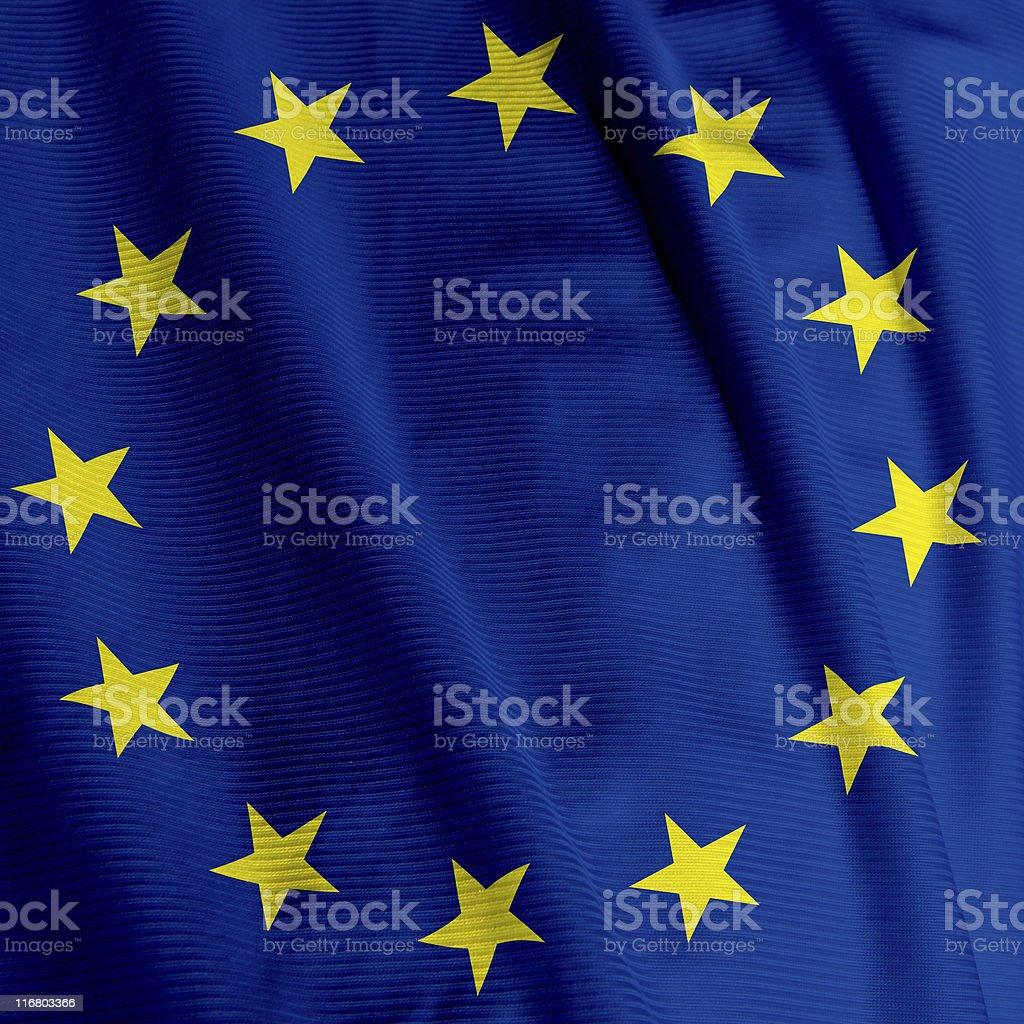 European Flag Closeup royalty-free stock photo