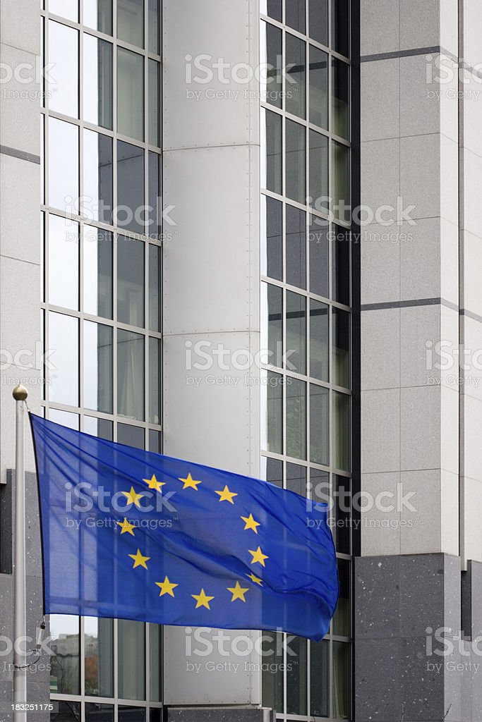 European flag in action royalty-free stock photo