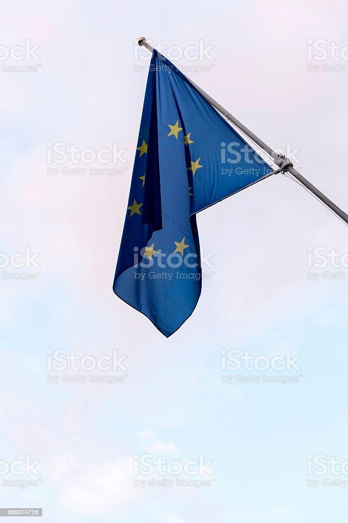 European flags in Bruges, Belgium stock photo