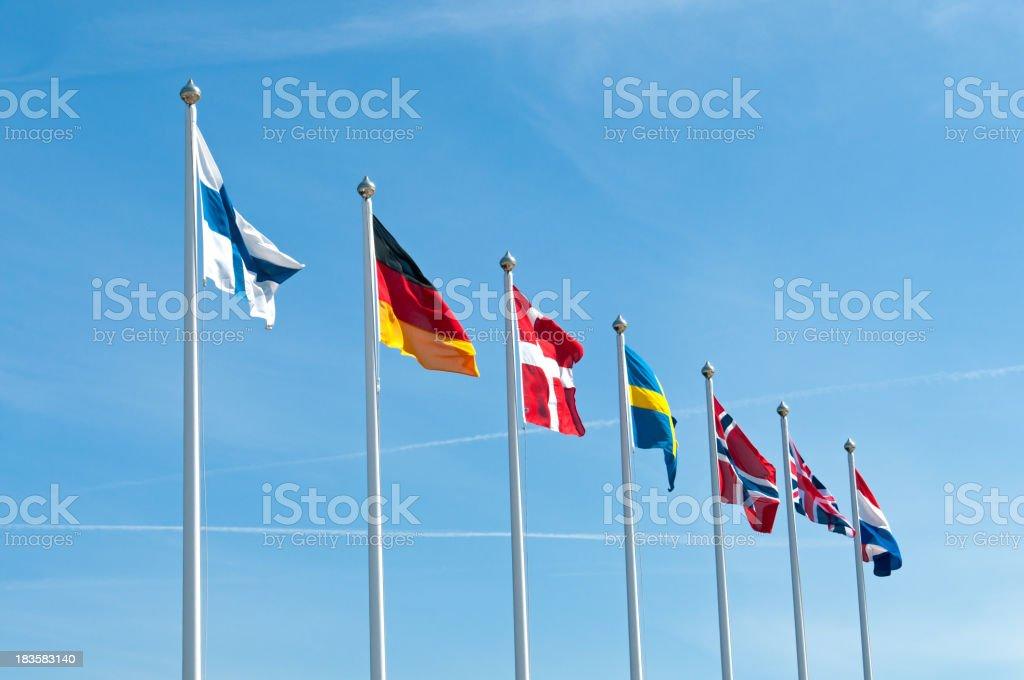 European flags stock photo