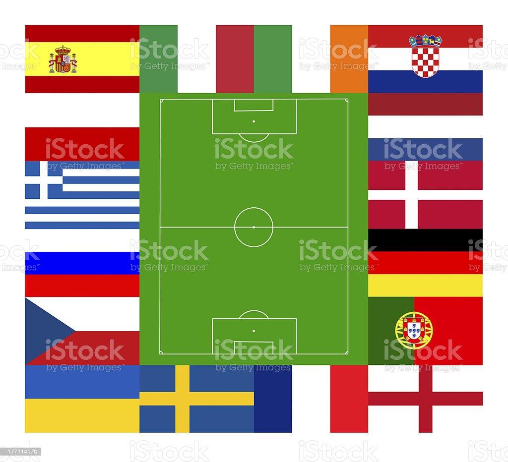 European football championship 2012 royalty-free stock photo