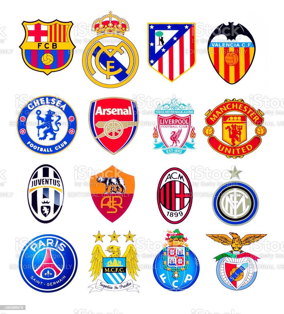 European football clubs stock photo