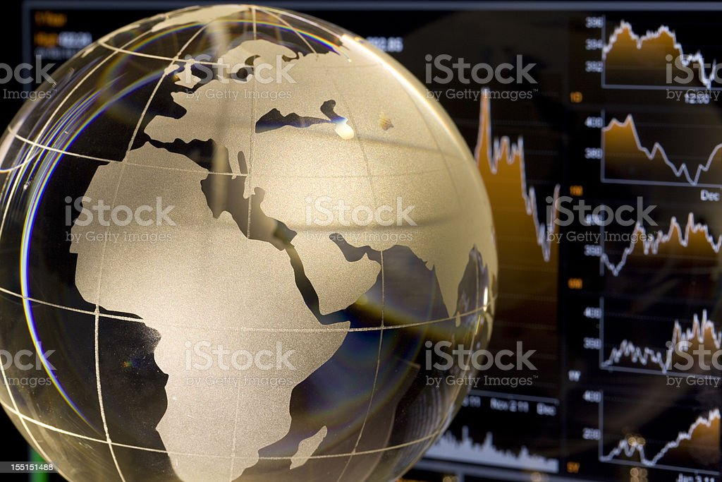 European Global Finance royalty-free stock photo