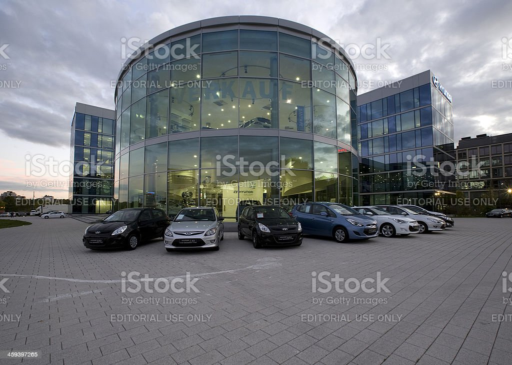 HYUNDAI European Headquarter royalty-free stock photo