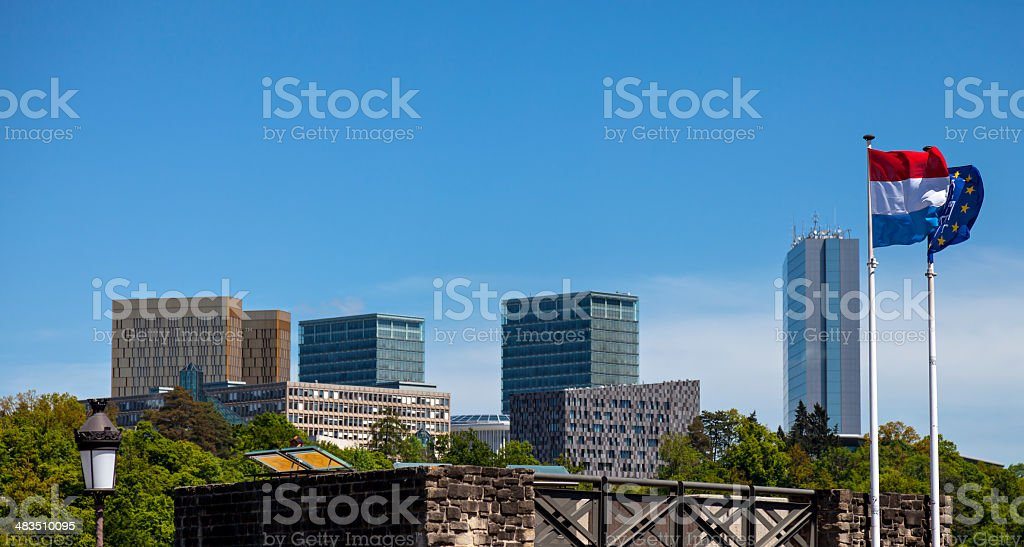 European Institutions in Luxembourg stock photo