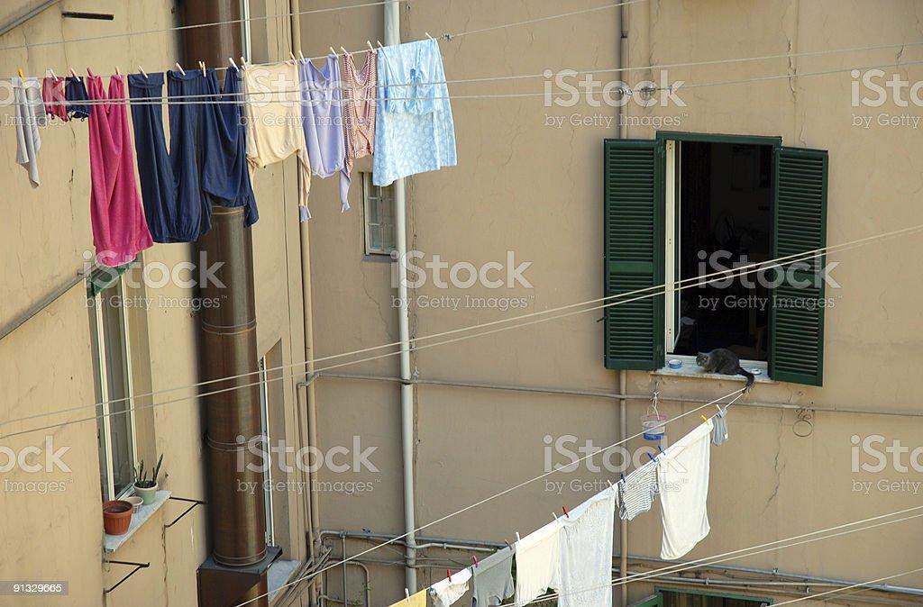 European Laundry royalty-free stock photo