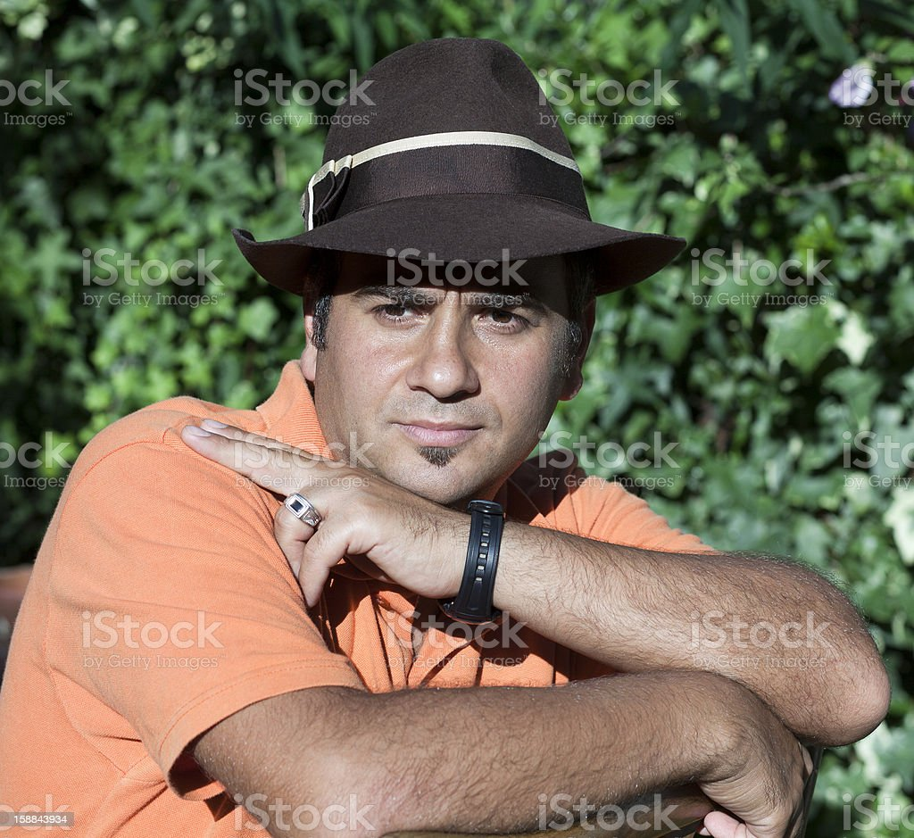 European man portrait stock photo
