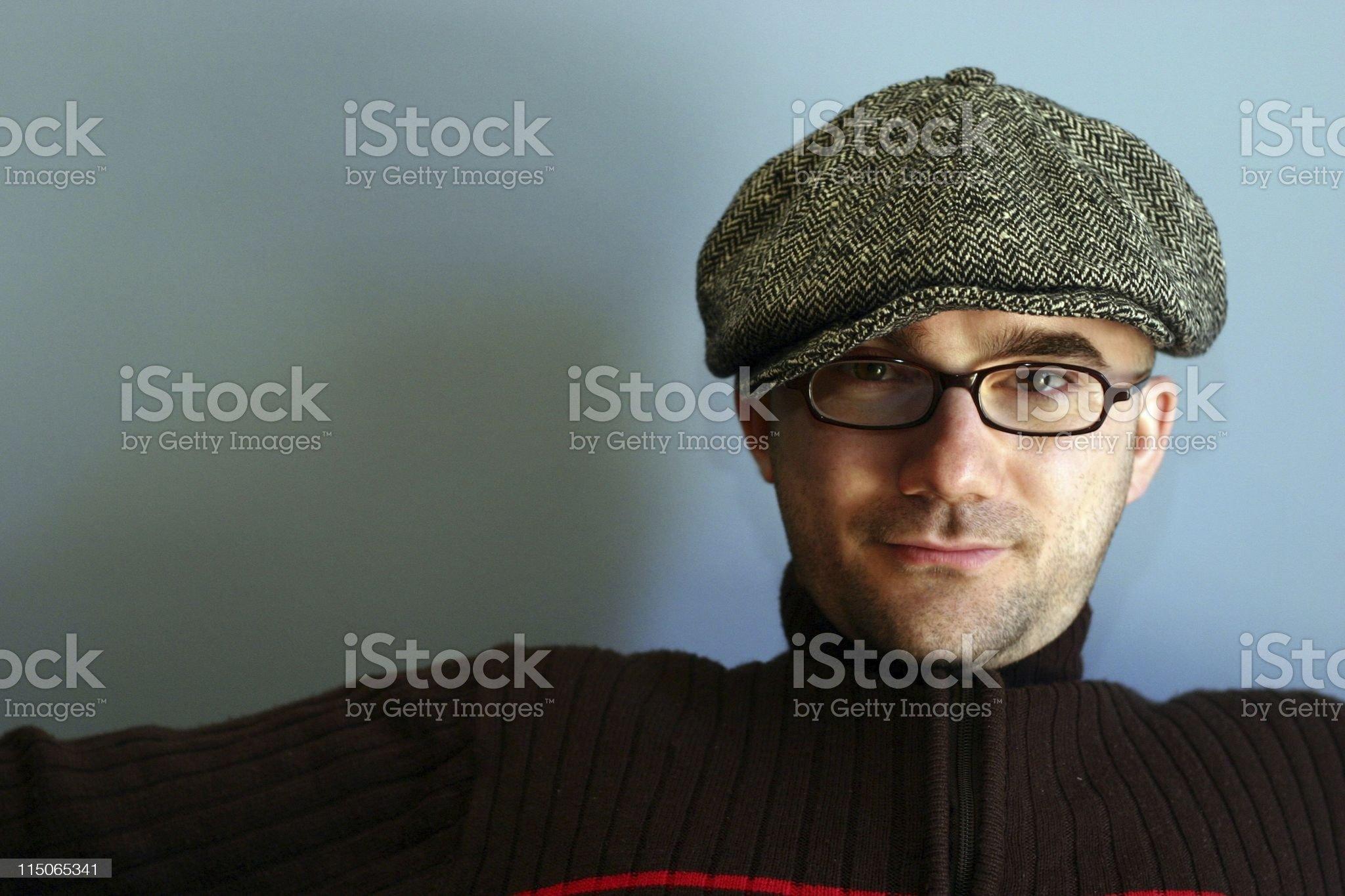 European Man with Beret royalty-free stock photo