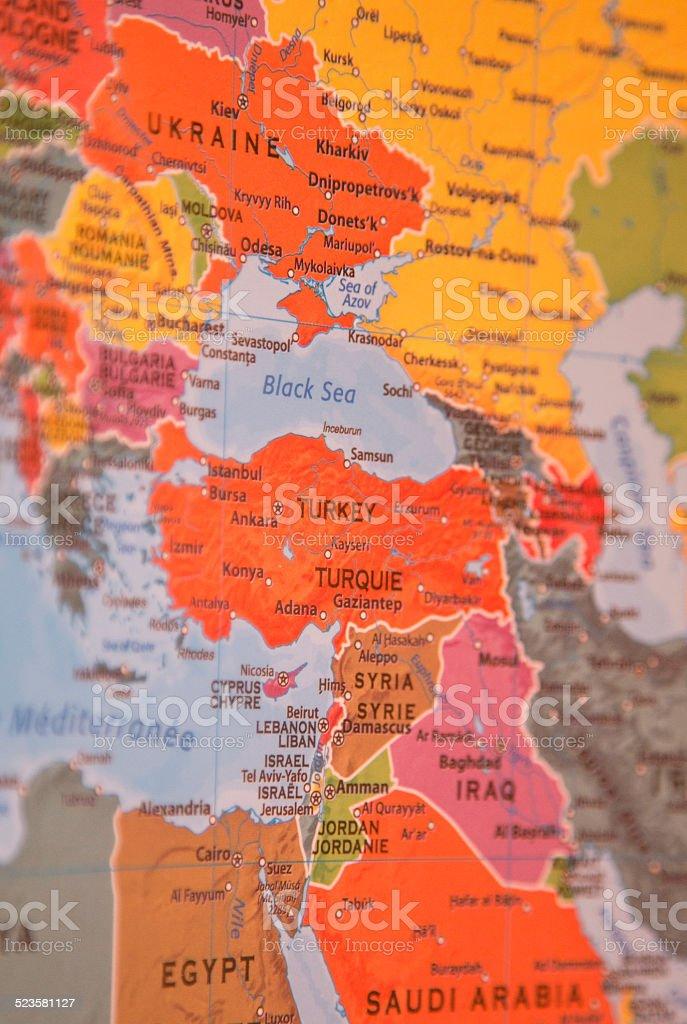 European Map Focus Ukraine stock photo