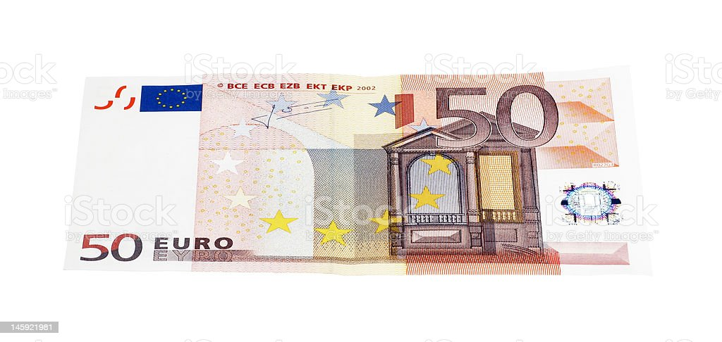 European Money, Fifty Euro Banknote stock photo