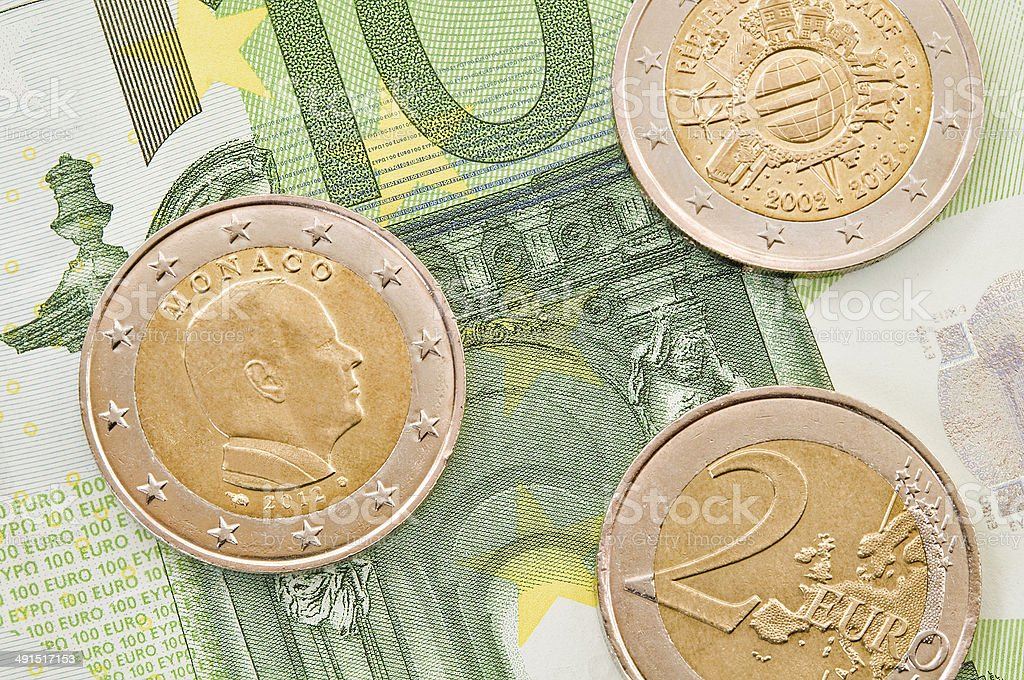 European money. stock photo