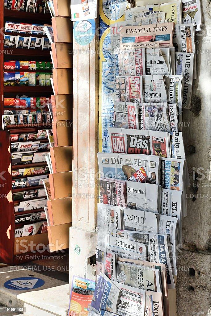 European newpapers stock photo