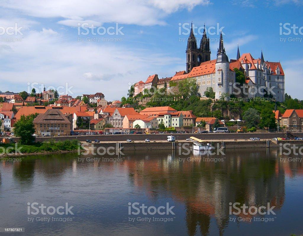 European old castle in Meissen stock photo