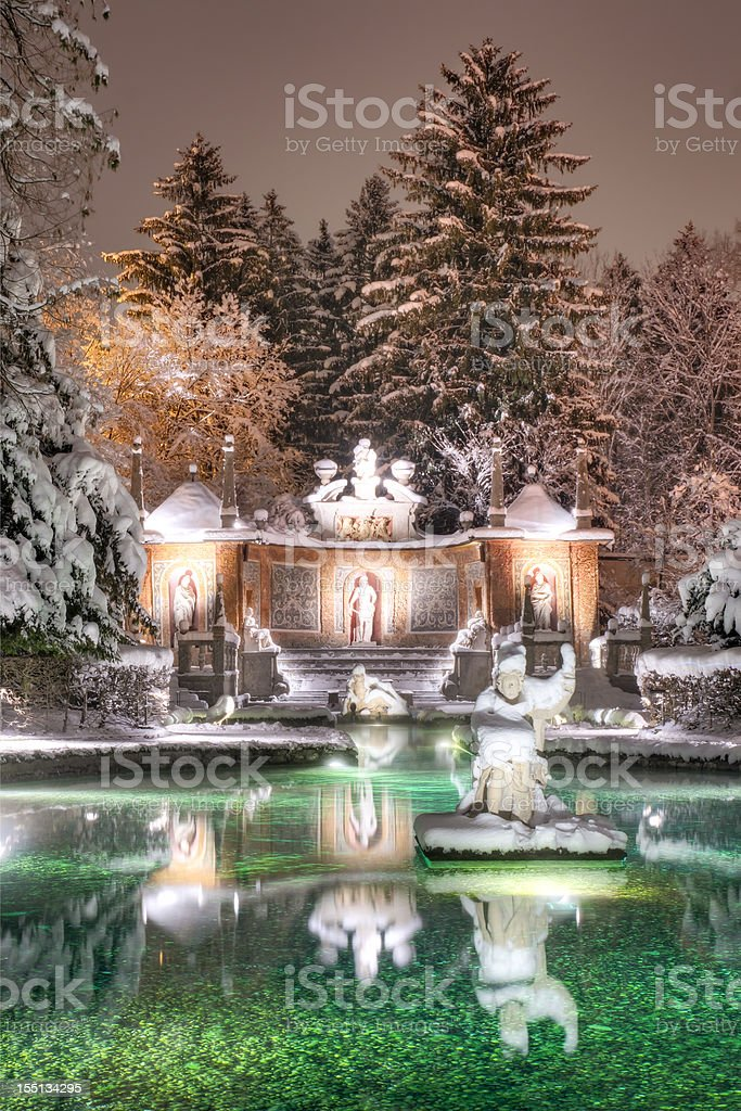 European Palace Gardens in Winter royalty-free stock photo