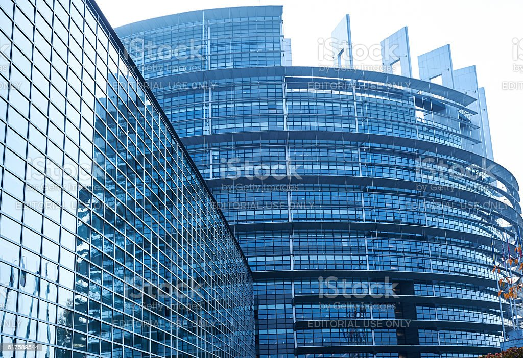 European Parlaiment building stock photo
