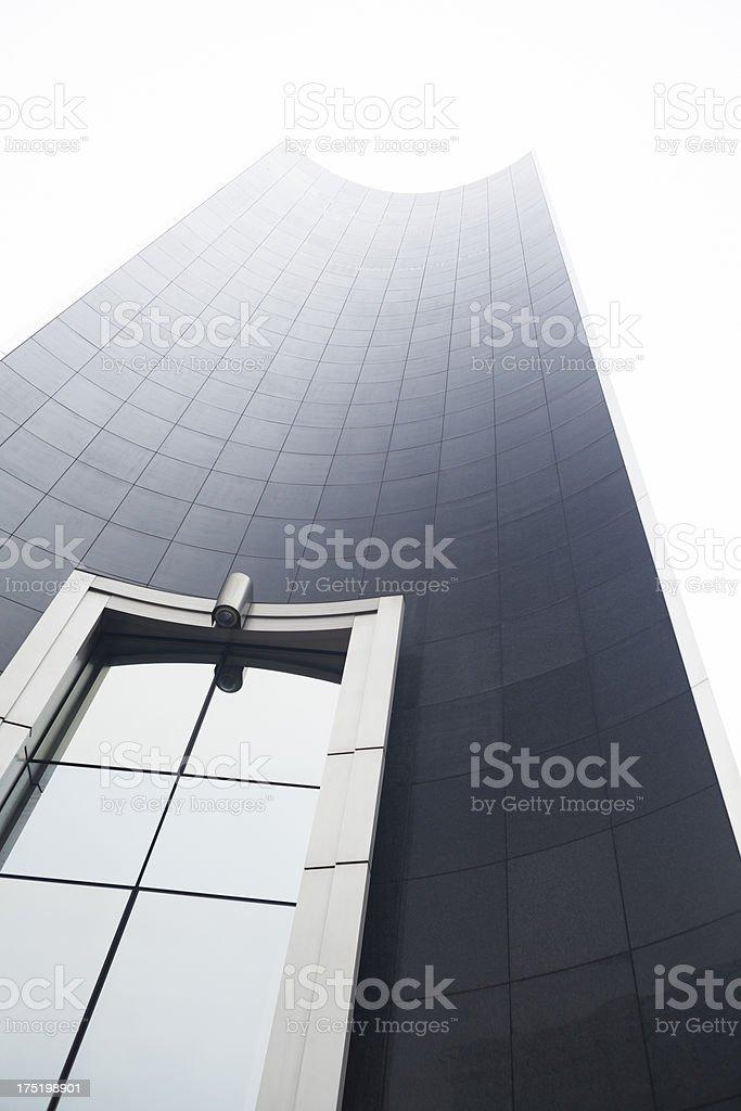 European Parliament building facade in Brussels, Belgium royalty-free stock photo