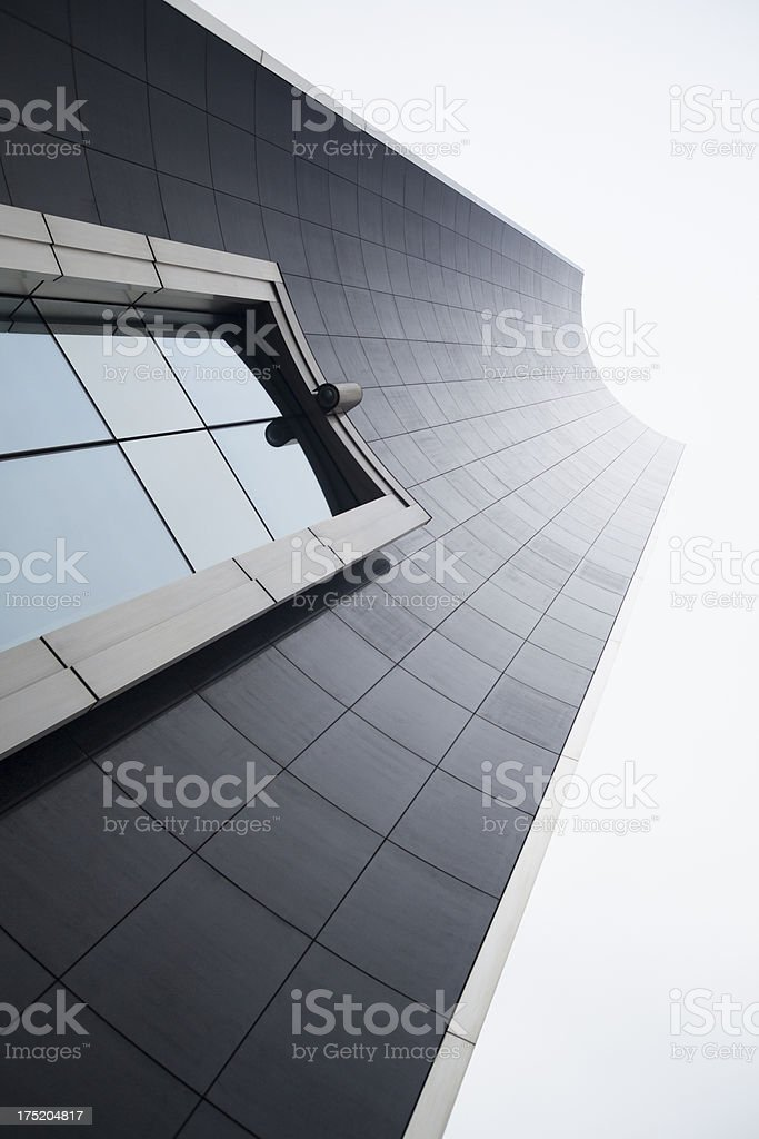 European Parliament building facade in Brussels, Belgium royalty-free stock photo