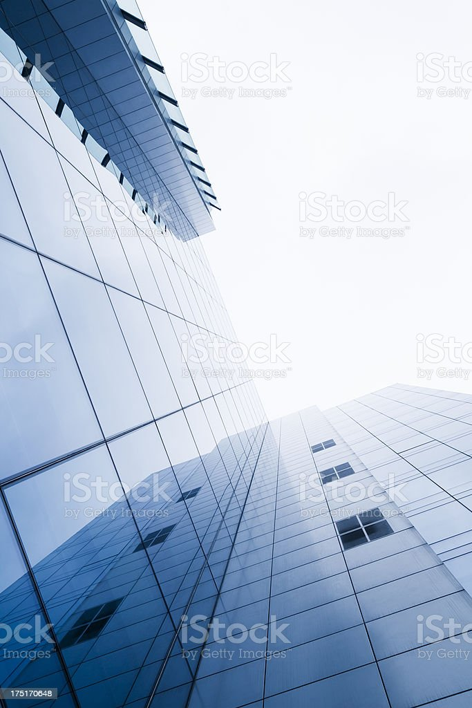 European Parliament building glass facade in Brussels, Belgium royalty-free stock photo