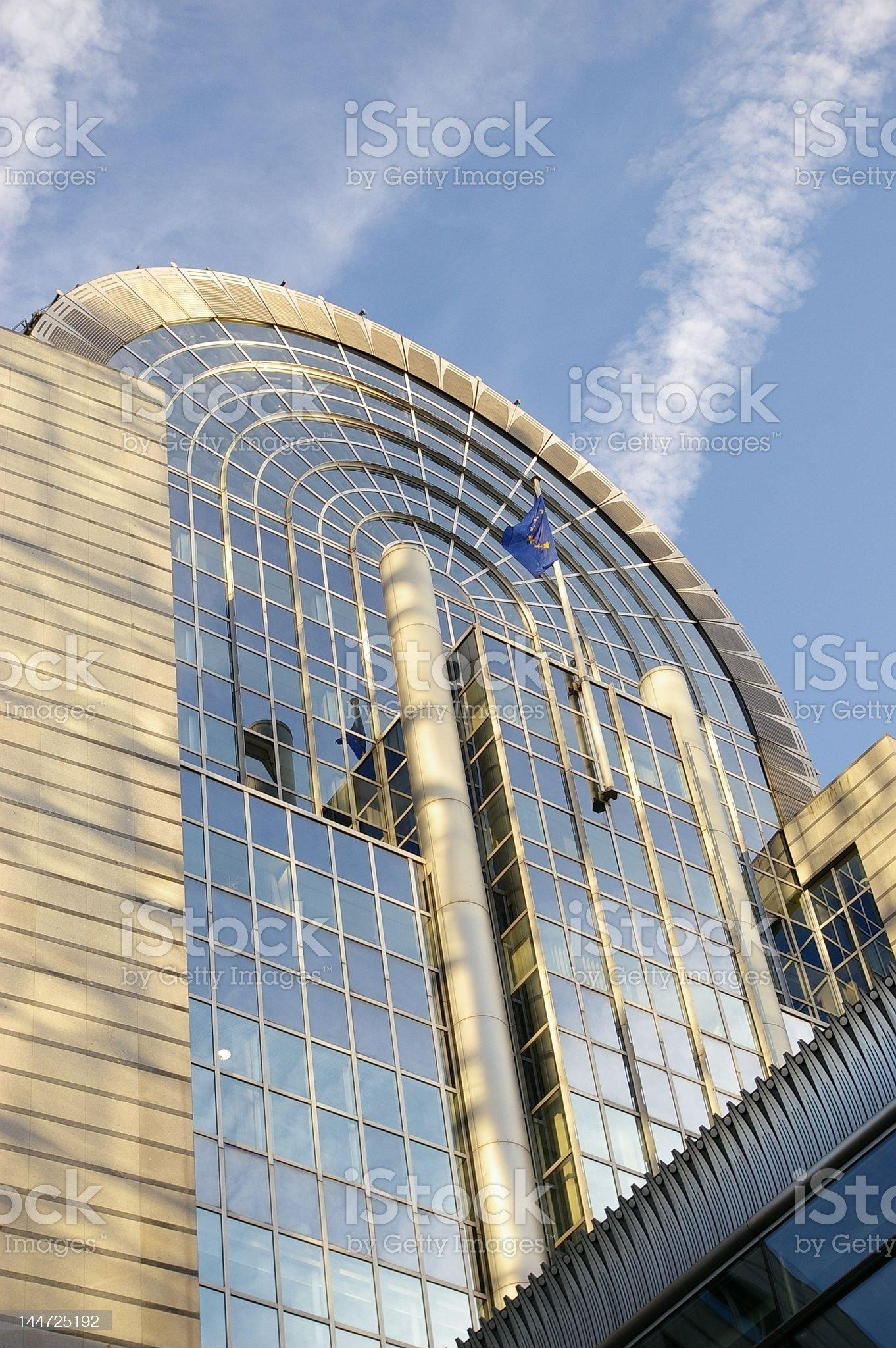 European Parliament building in Brussels, Belgium royalty-free stock photo
