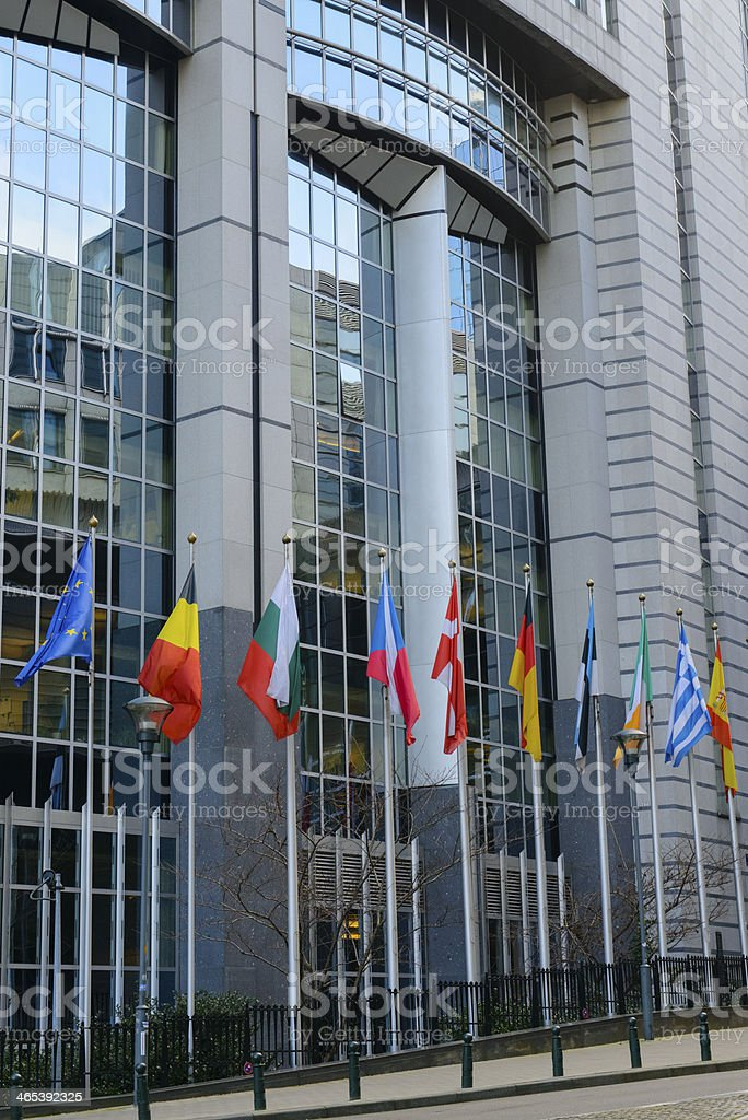 European Parliament building in Brussels stock photo