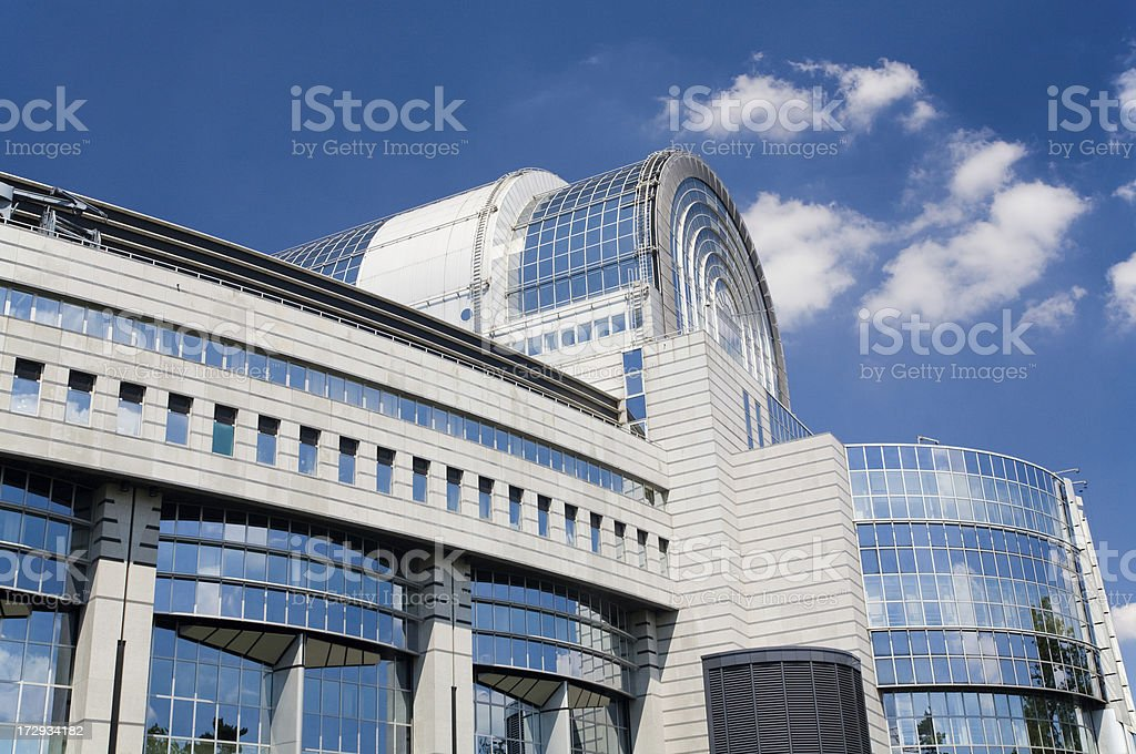 European Parliament building stock photo