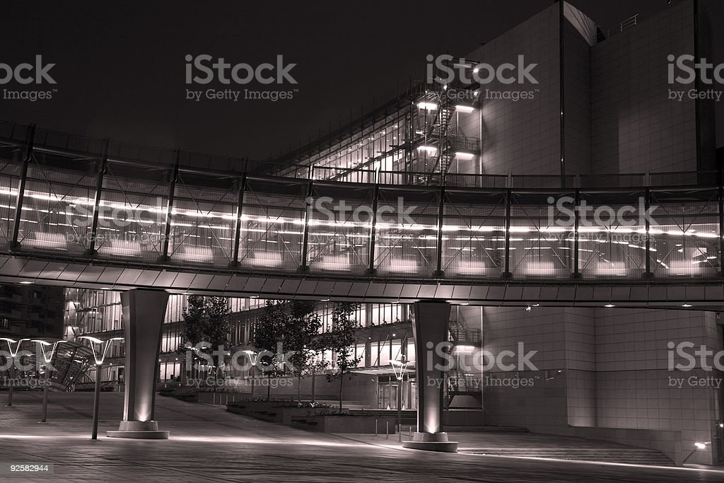 European Parliament Complex Buildings royalty-free stock photo