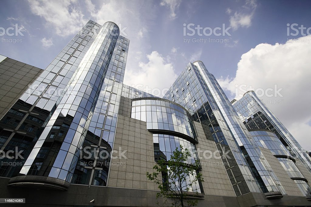 European Parliament towers - Brussels, Belgium royalty-free stock photo