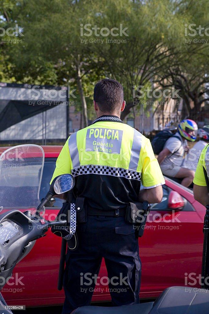 European Policeman royalty-free stock photo
