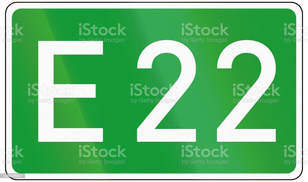 European Road 22 stock photo