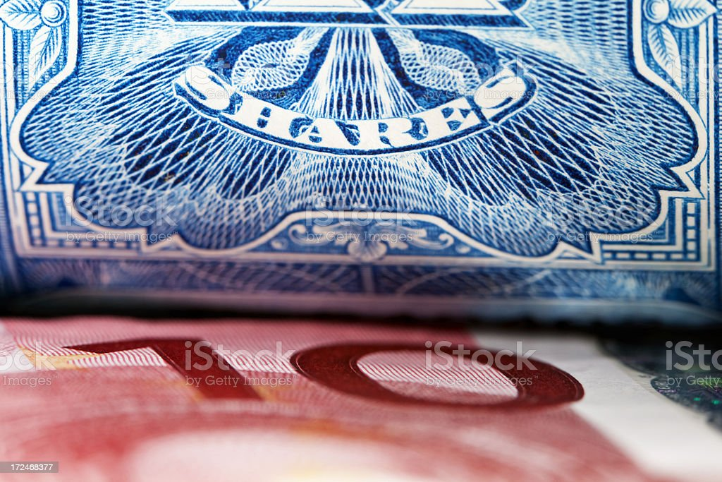European Shares royalty-free stock photo