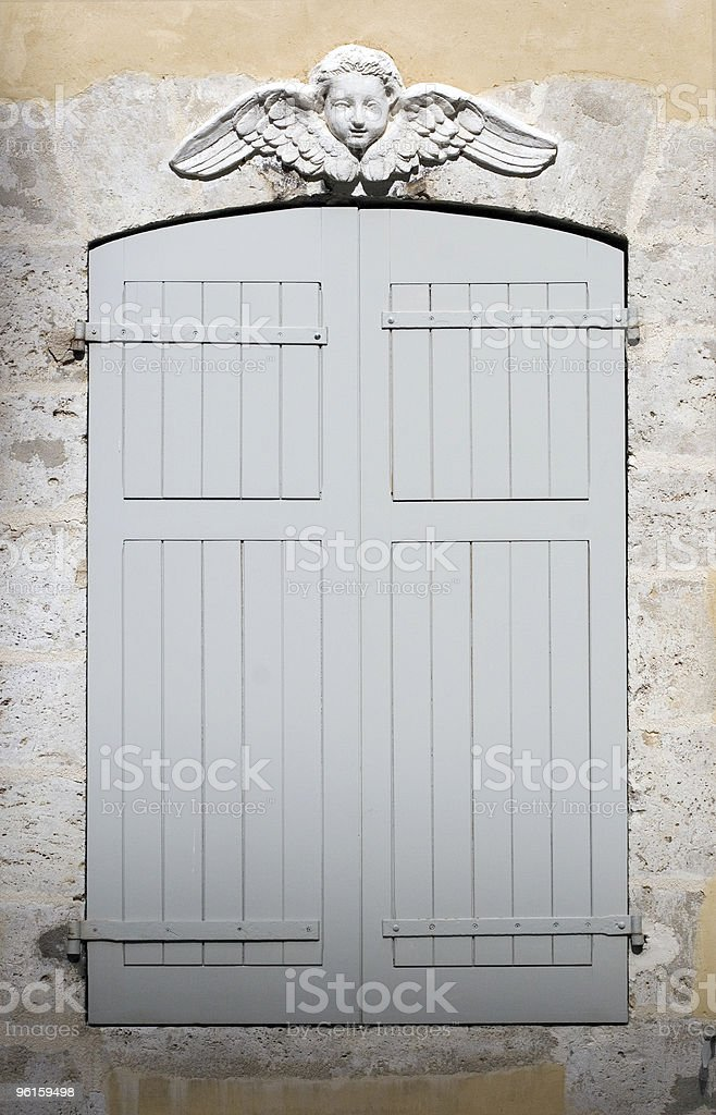 European Shuttered Window royalty-free stock photo