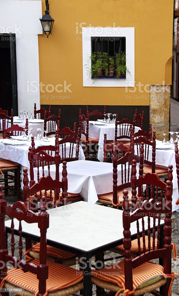European Sidewalk Cafe royalty-free stock photo