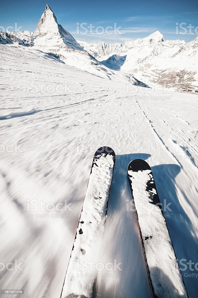 European Skiing Experience stock photo