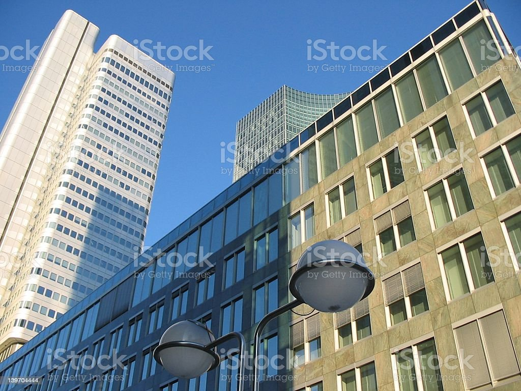European Skyscrapers juxtaposition royalty-free stock photo