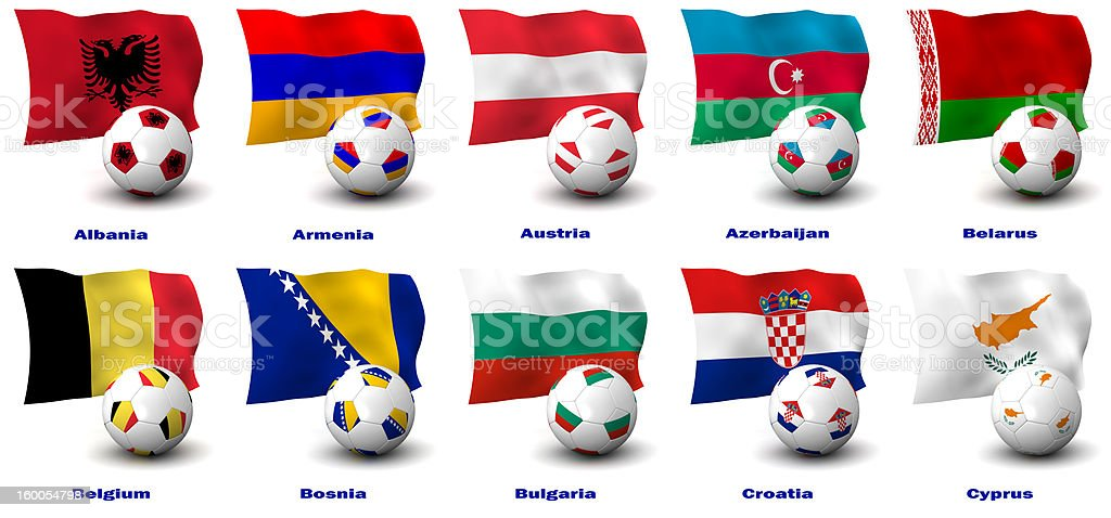 European Soccer Nations royalty-free stock photo