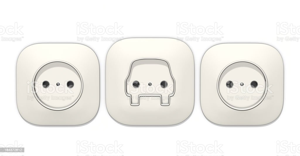 European socket in the shape of a car royalty-free stock photo