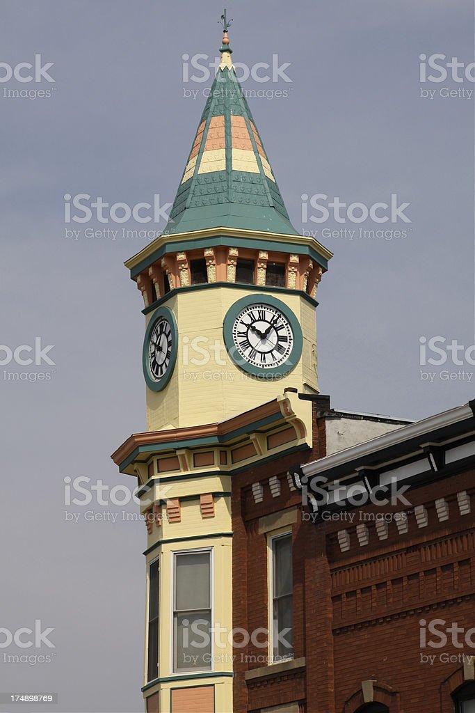 European Style Clock Tower royalty-free stock photo