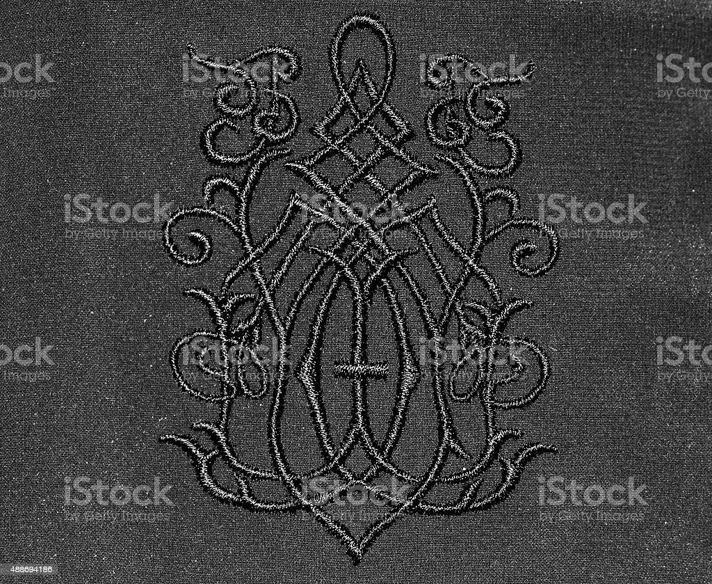European style embroidery stock photo